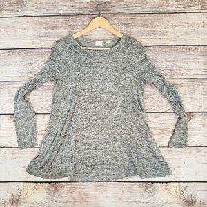 Postmark Anthropologie Heather Gray Knit Tunic
